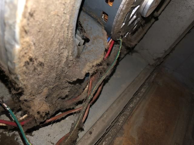 Dayton, OH - customer advised that neither the AC or Furnace would blow any air. turned unit on at stat in AC mode. Outdoor unit came on however indoor unit did not. Checked indoor capacitor on blower motor, which read 0.0 out of 10. Blower wheel was extremely dirty as was the motor itself. There was no filter currently being used for system Replaced capacitor with one from truck stock and reinstalled. Restarted system. System began operating and blowing air.