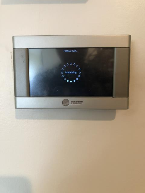 Miamisburg, OH - Checking over the Customer's Thermostat.