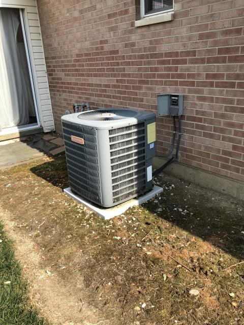 Centerville, OH - I provided an estimate for a new Carrier 80% 90,000 BTU Gas Furnace and a Carrier 16 SEER 3 Ton Air Conditioner