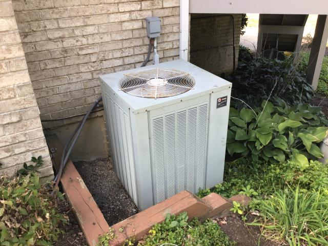 Centerville, OH - Checked filter inside to verify airflow and found it to be clean. outdoor unit was not level and very dirty which was restricting airflow Leveled unit using isolation pads from truck stock and washed unit with hose. Restarted system and checked pressure. Unit is charged properly and not low on refrigerant. Unit is now operational and cooling the residence