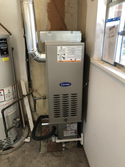 Bellbrook, OH - I installed a new Carrier 80% 70,000 BTU Gas Furnace and a new  Carrier 13 SEER 2 Ton Air Conditioner,