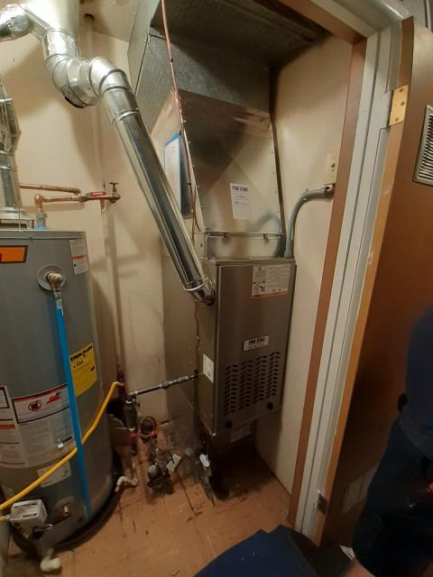 Trotwood, OH - I performed an inspection on the installation of a Five Star 80% 70,000 BTU Gas Furnace and a Five Star 13 SEER 2 Ton Air Conditioner. Everything is operating within manufacturers specifications at this time.