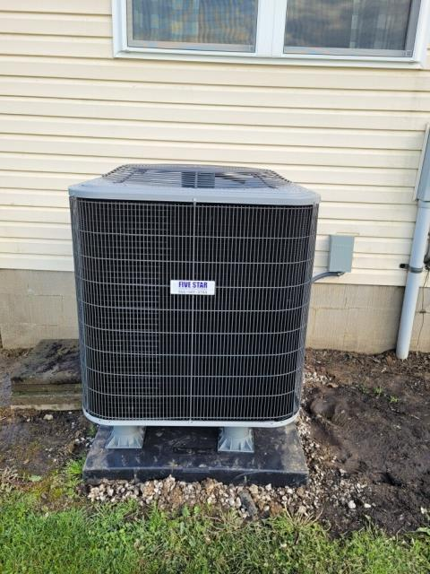 Xenia, OH - I performed an inspection on the installation of a Five Star 96% 2 Stage Variable Speed 60,000 BTU Gas Furnace and a Five Star 16 SEER 3 Ton Heat Pump. All systems components are operating within manufactures specifications at this time.