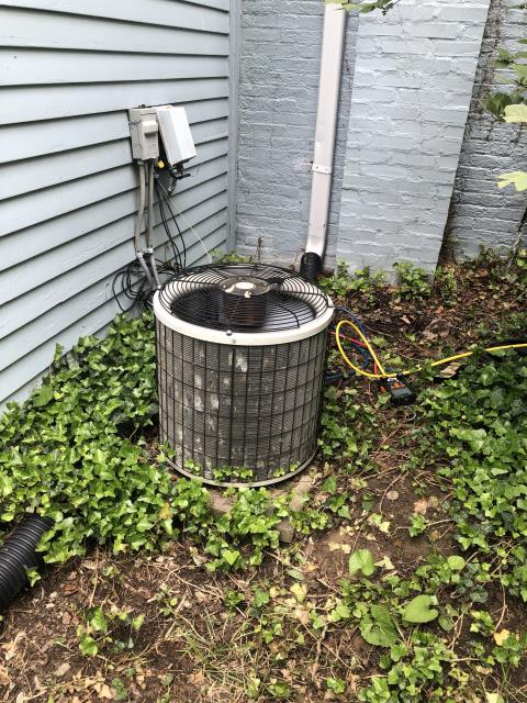 Centerville, OH - Upon inspection, I found the system was low on refrigerant and there was a small leak. I added the needed refrigerant and sealed the leak with customer's permission. I also cleared the drain line. System is operational upon departure.