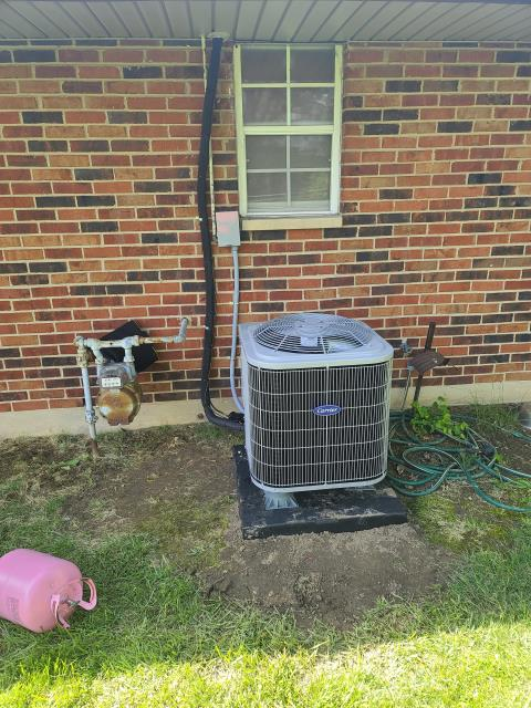Huber Heights, OH - I performed an inspection service on a water leak concerning our Carrier 13 SEER 2.5 Ton Air Conditioner install that we performed. Saw that the drain was plugged. We are returning tomorrow to resolve the issue.