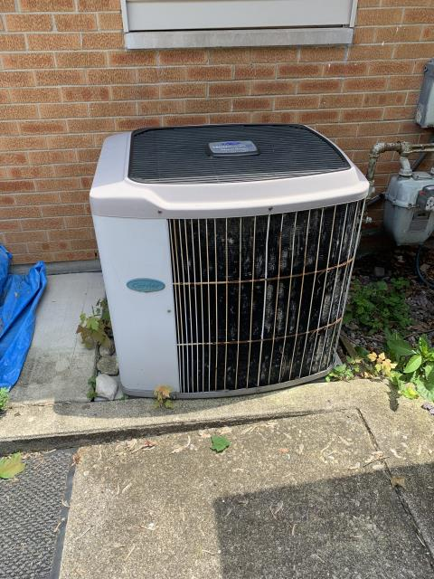 Miamisburg, OH - I arrived on site to perform service on a Carrier Air Conditioning. There was a leak coming from the unit. There was a cardboard tab from the unit that needed to be removed on install and a PVC pipe leading into the drain pan was lose. I removed the cardboard and re-fitted the PVC unit and the unit was operation at time of departure.