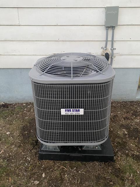 Beavercreek, OH - I arrived on site to perform an inspection on a Five Star 13 SEER 2 Ton Air Conditioner that we installed. I found that the filter needed to be replaced. The duct work was gathering condensation, so I recommended that the customer set up a dehumidifier as well as adding a register to pump cold air into the duct work. Unit was running at full functionality upon departure.