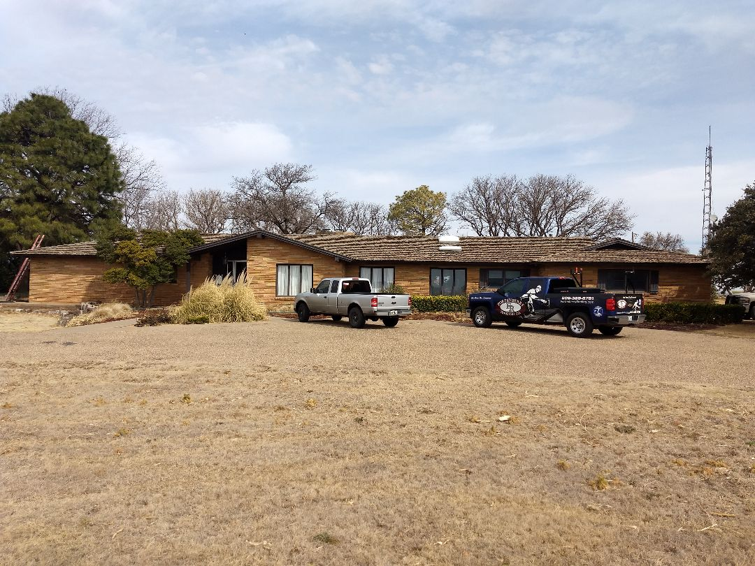 Dimmitt, TX - Wood roof estimate. Reroof for a return client who has hail damage.