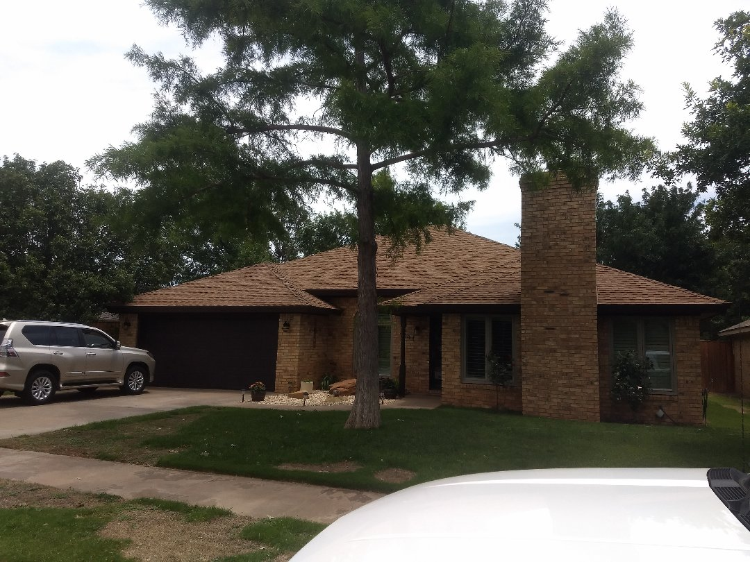 Lubbock, TX - Re-roof estimate for roof with hail damage.