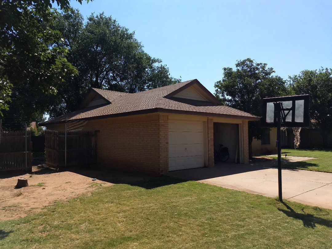 Lubbock, TX - Roof estimate for hail damaged shingles