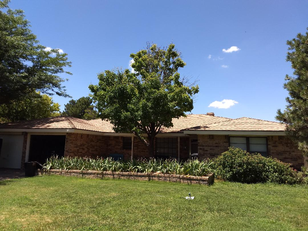 Lubbock, TX - Reroof estimate for wind and hail damaged roof