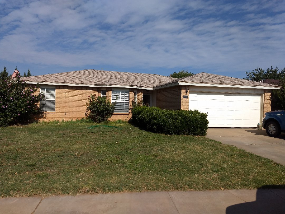 Lubbock, TX - Re-roof estimate for hail damage to asphalt composition shingles