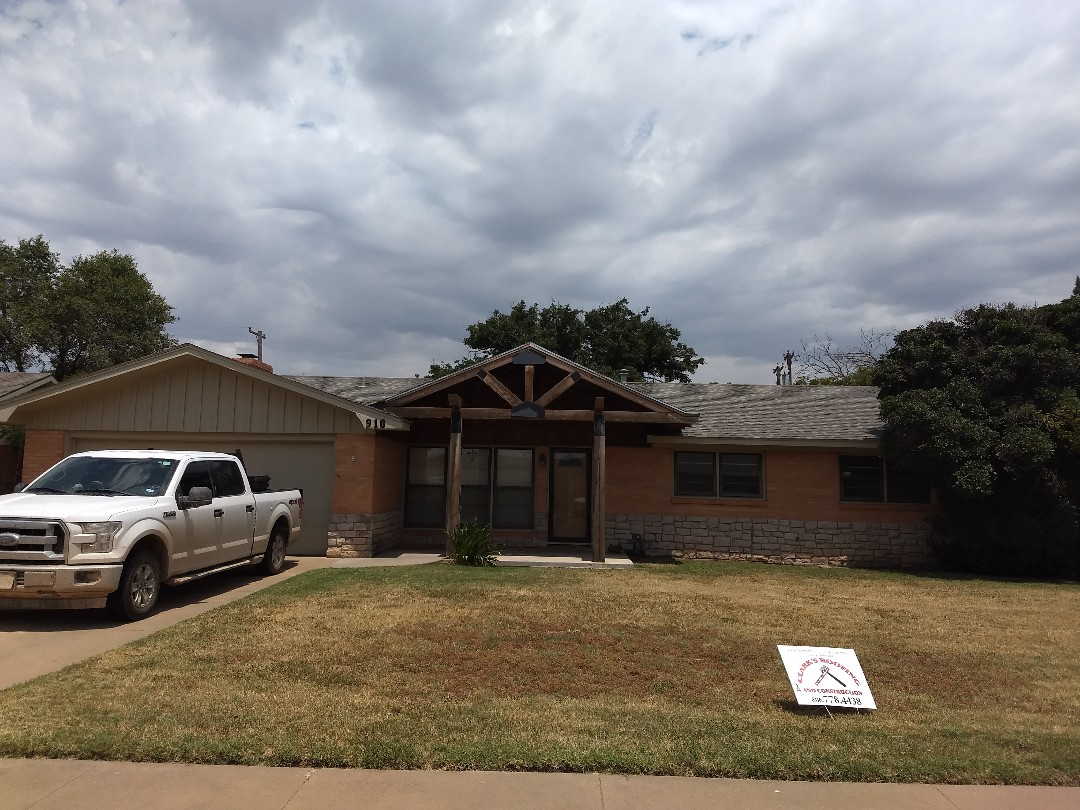 Plainview, TX - Re-roof estimate for wind and hail damaged roof