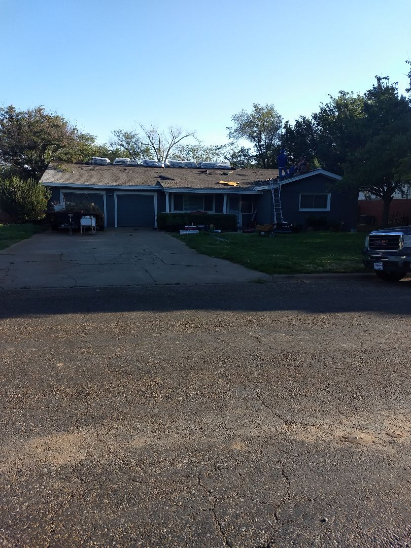 Plainview, TX - Reroof for customer with ridge ventilation and soffit vents.