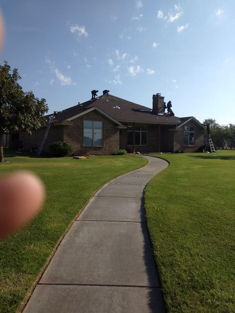 Lubbock, TX - Installing ridge ventilation for customer.