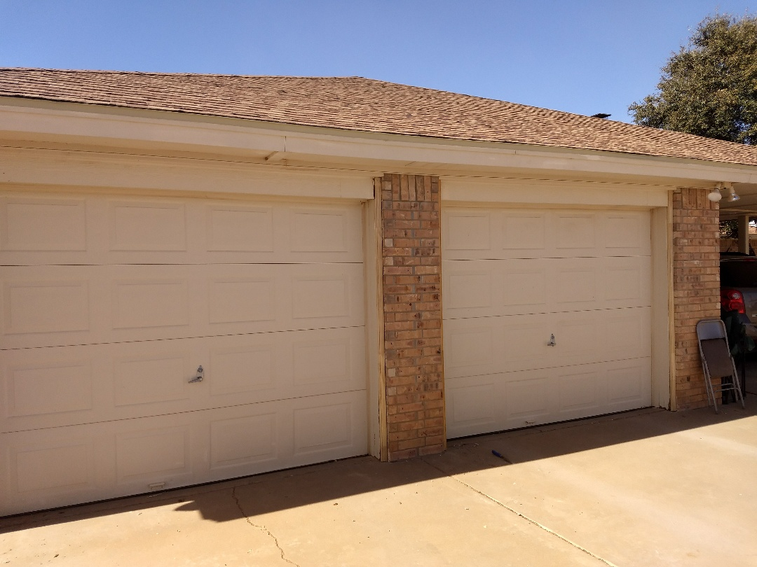 Anton, TX - Replace garage door brick mold