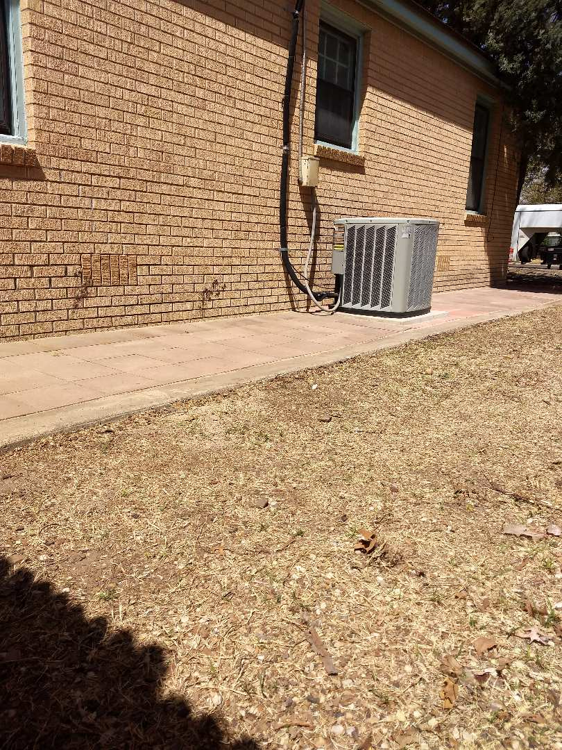 Lubbock, TX - Relayed landscape pavers that client was tripping on.... Now complete