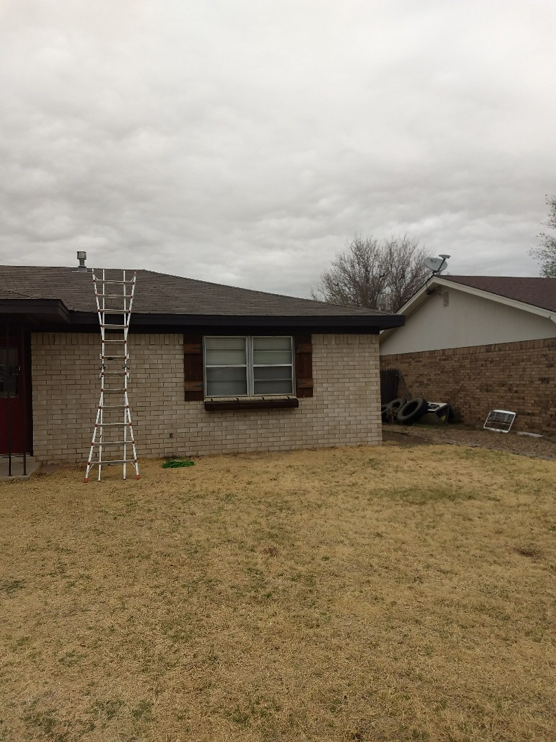 Muleshoe, TX - Shingle repair on chimney and vents