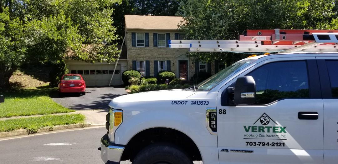 Fairfax, VA - Trim today. Roof tomorrow!