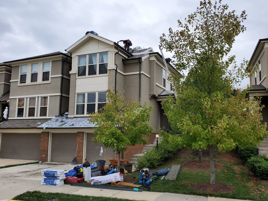 Ashburn, VA - GAF Royal Sovereign 3-tab being installed on this roof due to an HOA policy. Sometimes asthetics is more important than longevity to these organizations. Nonetheless, it will be installed with top quality labor.