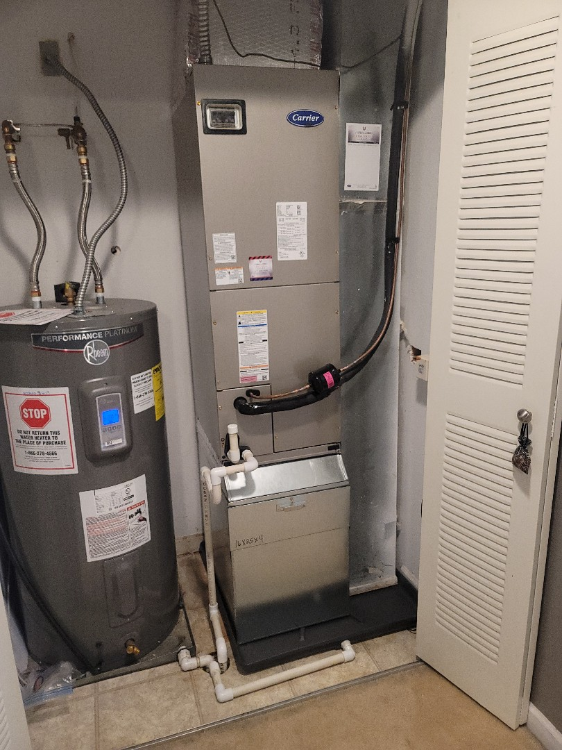 Franklin, IN - New carrier heat pump system install