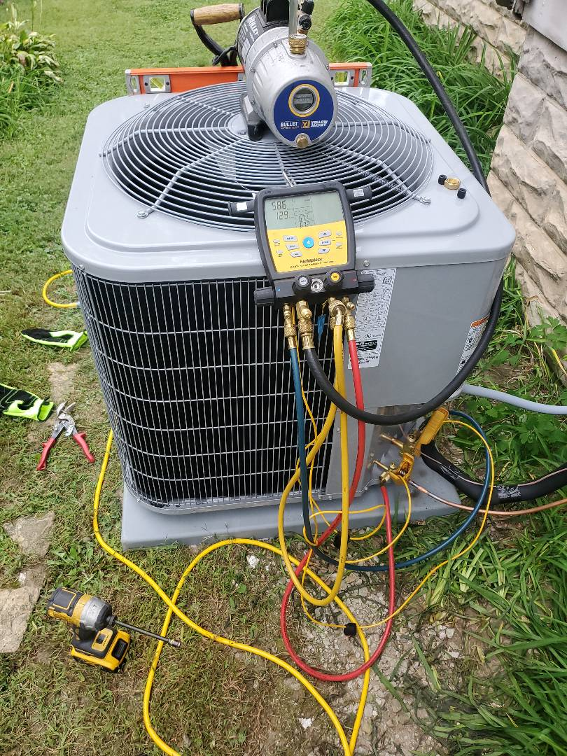 Hope, IN - Carrier AC install