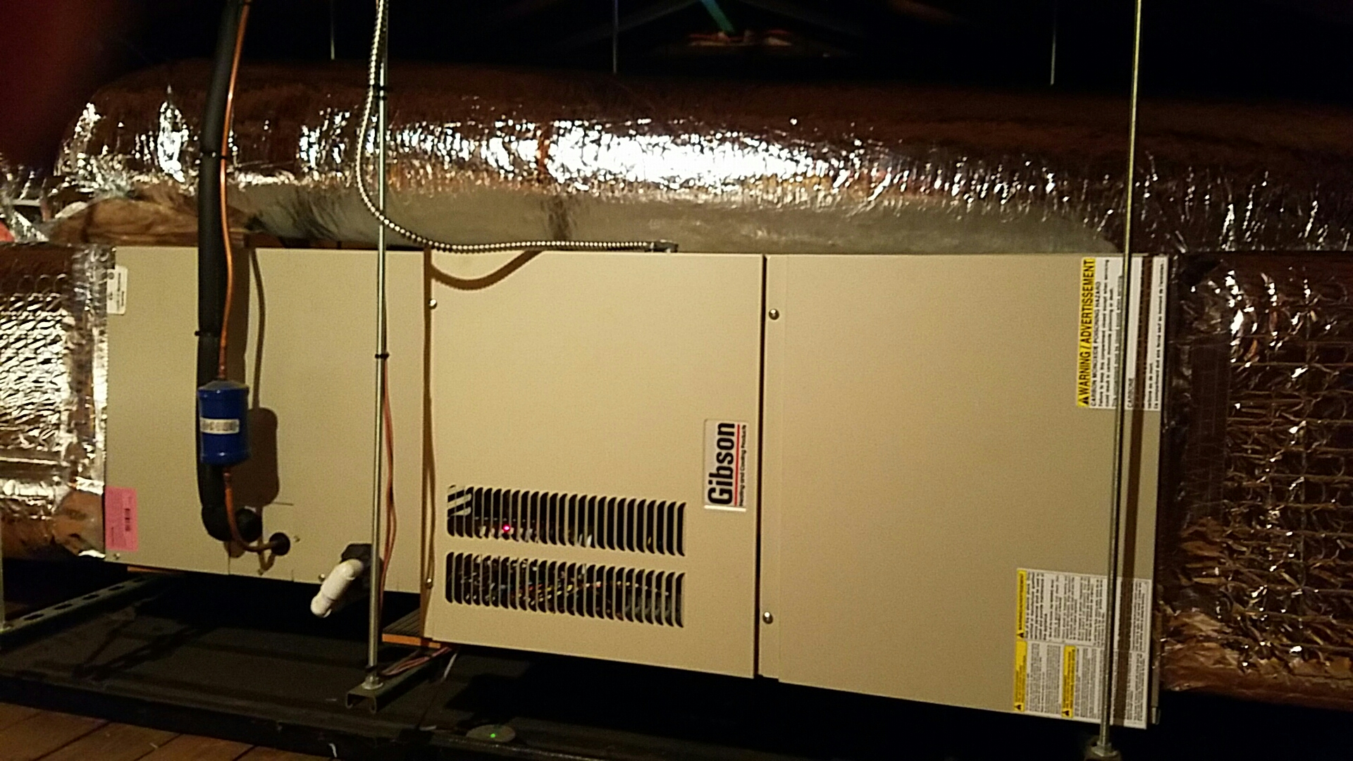 South Brunswick Township, NJ - Gibson Furance and air conditioning  install duct work install return air frame and filter