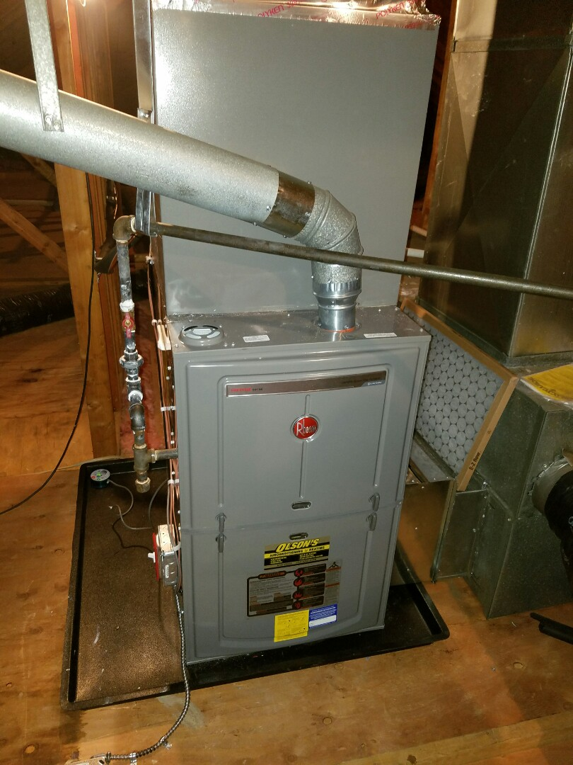 Monroe Township, NJ - Install rheem furnace and air conditioning condenser Install wet switch and trap with overflow protection