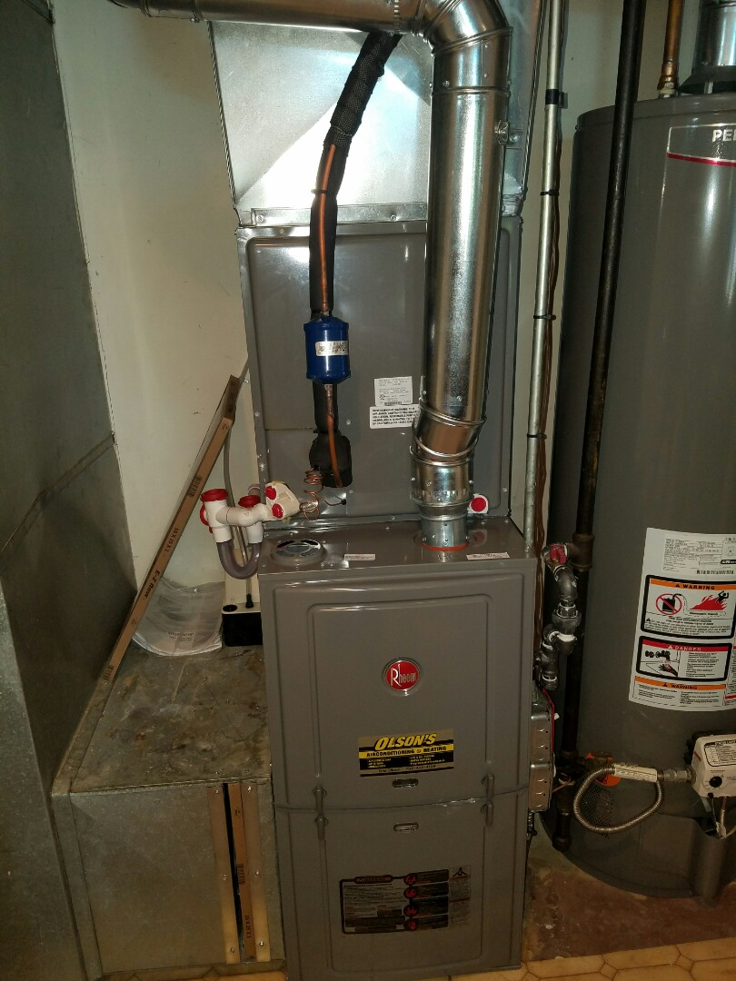 South Brunswick Township, NJ - Install rheem furnace and condenser Install trap and pump with kill switch Check and charge Air Conditioning