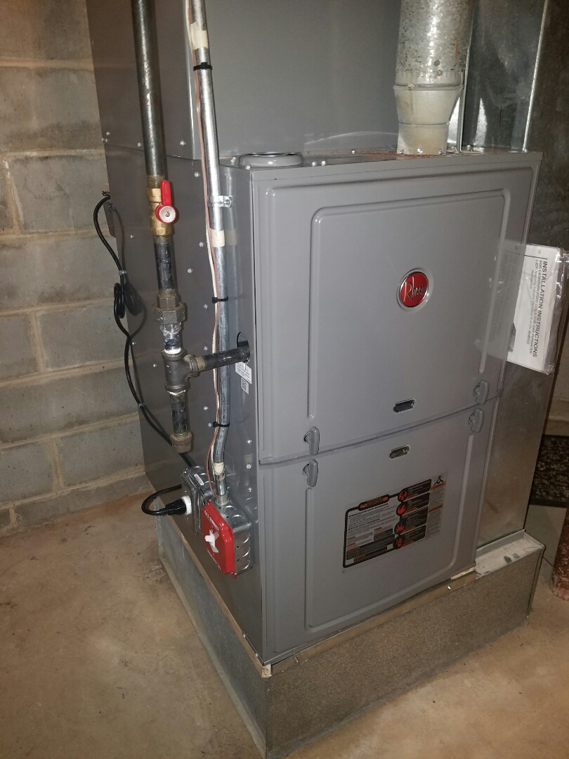 South Brunswick Township, NJ - Install Rheem furnace and coil install filter check and charge air conditioning