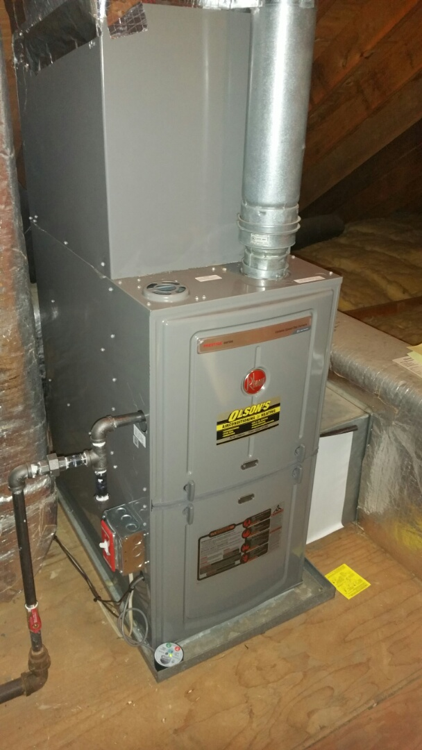 South Brunswick Township, NJ - Install Rheem furnace 75000 btu with 3 ton Rheem coil and condenser