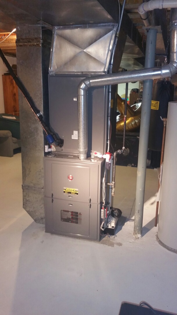South Brunswick Township, NJ - Install Rheem furnace and 5 ton Rheem coil and condenser install new line set and new condensate pump