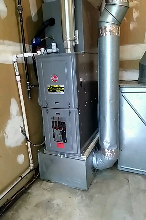 South Brunswick Township, NJ - Remove old furance could and condenser and  Install new Rheem 50k btu furance with Adp 2 ton coil and 2 ton condenser  install safety condensate switch with condensate