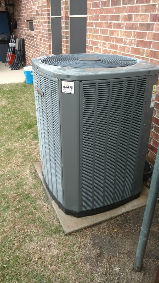 Lewisville, TX - Spring cooling maintenance on a Trane system