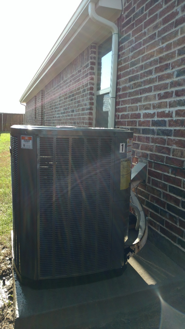 Celina, TX - Single zone cooling inspections completed on Trane high efficiency unit in Celina