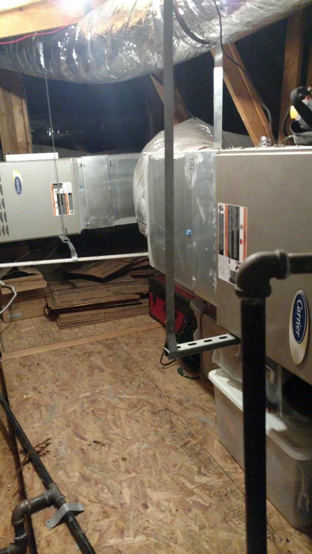 Allen, TX - 2 zone heating inspection finished up. Both furnace sections are in excellent shape and ready for the winter.