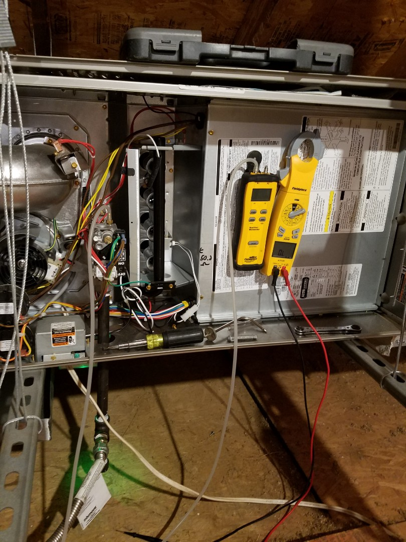 Flower Mound, TX - Two system heating tube up.