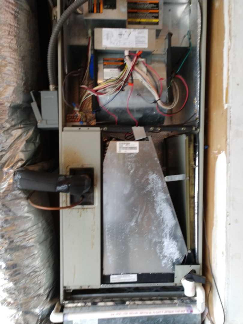 Lewisville, TX - One electric heating system inspection. Install surge protector on indoor air handler.
