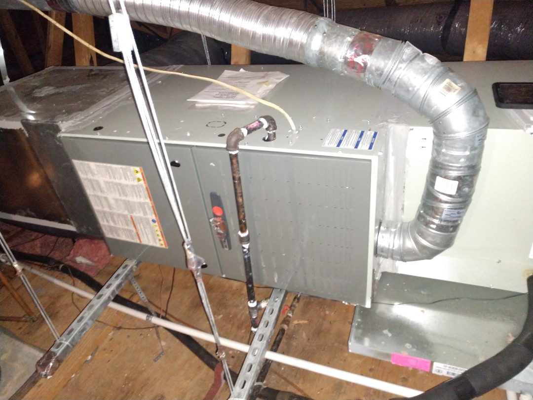 Flower Mound, TX - One-time heating inspection on Trane gas high efficiency furnace. Installed indoor surge protector. Buddy Peterson from Advent