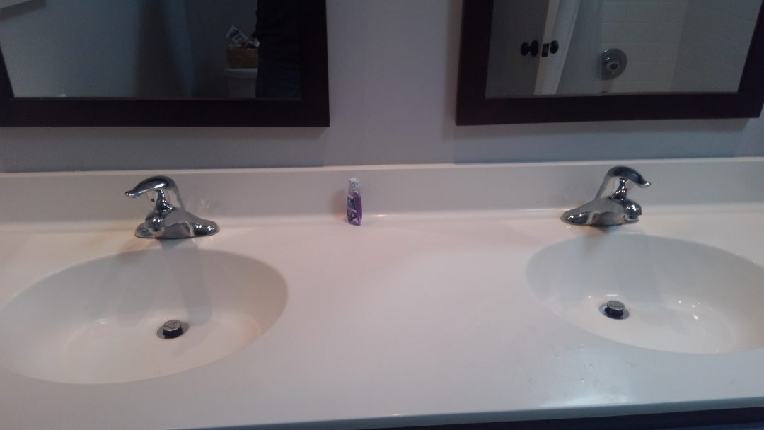 Annapolis, MD - Installing two Moen 4621 lavatory faucets