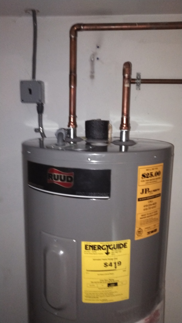 Arnold, MD - Installing a new Ruud Pro-series electric water heater
