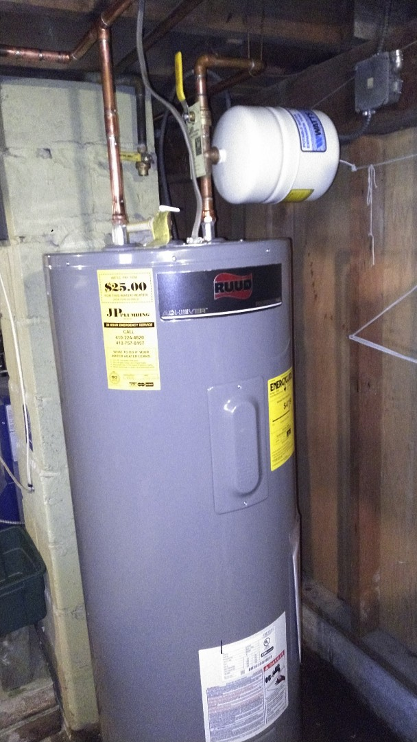 Arnold, MD - Installing a new 50 gallon Ruud Pro-series water heater