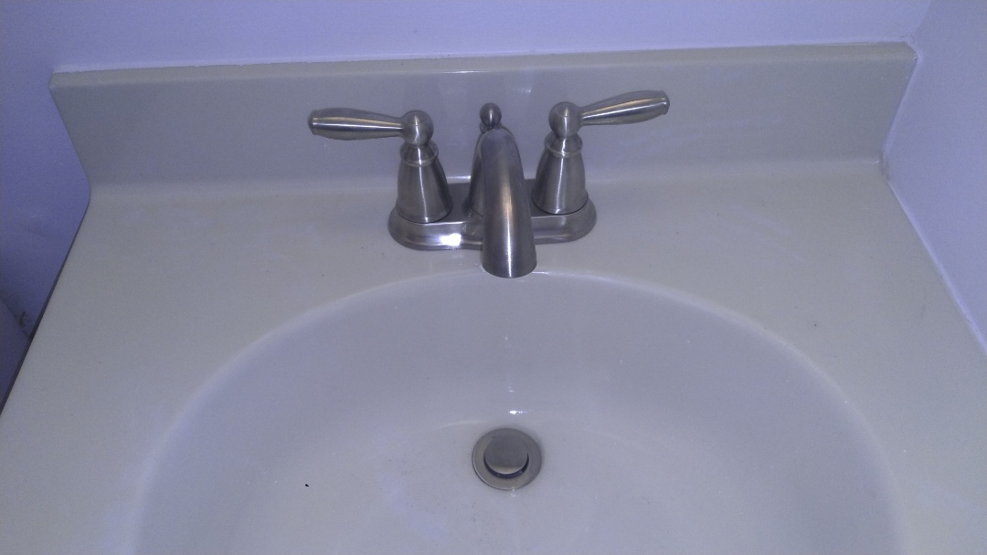Annapolis, MD - Installed a new Moen Brantford # 6610 Brushed Nickel lavatory faucet