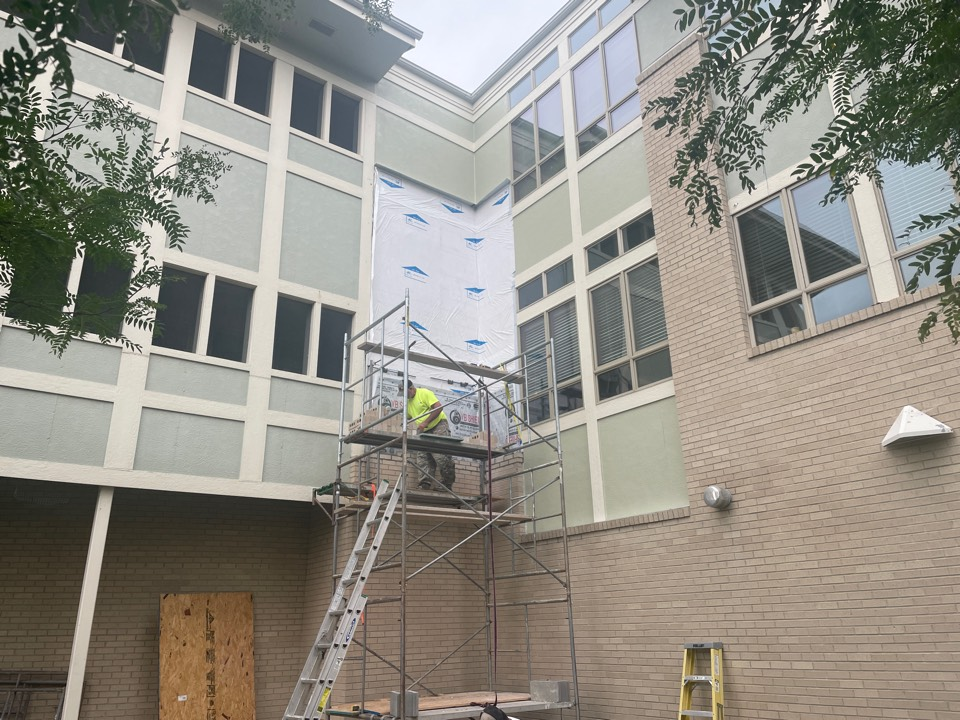 Omaha, NE - We are installing brick that we removed caus of mold remediation