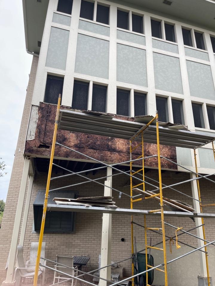 Omaha, NE - Repairing water damage exterior wall