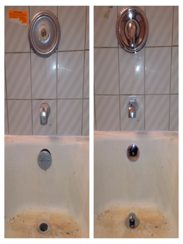 Oak Forest, IL - Installed new bathtub faucet trim and other fixtures