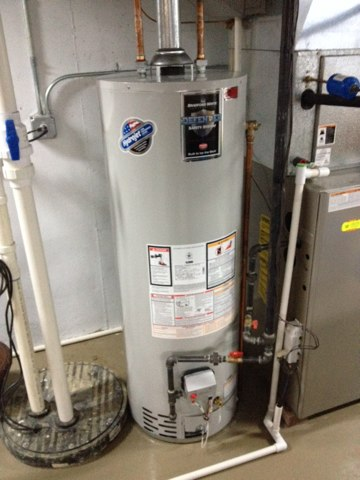 Shorewood, IL - Installed new 50 gal. Bradford white Water heater and removed and disposed of the old one