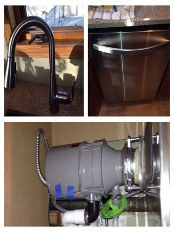Lombard, IL - Installed kitchen faucet, garbage disposal and dishwasher