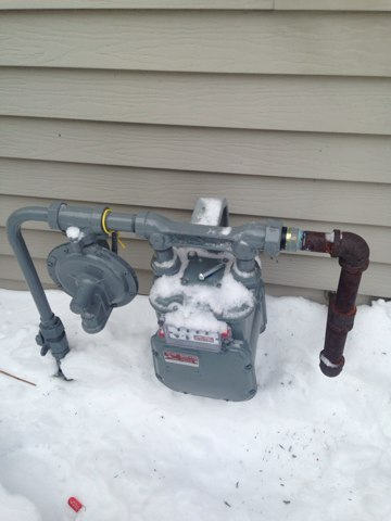 Aurora, IL - Ran new 1 inch gas pipe to connect gas meter