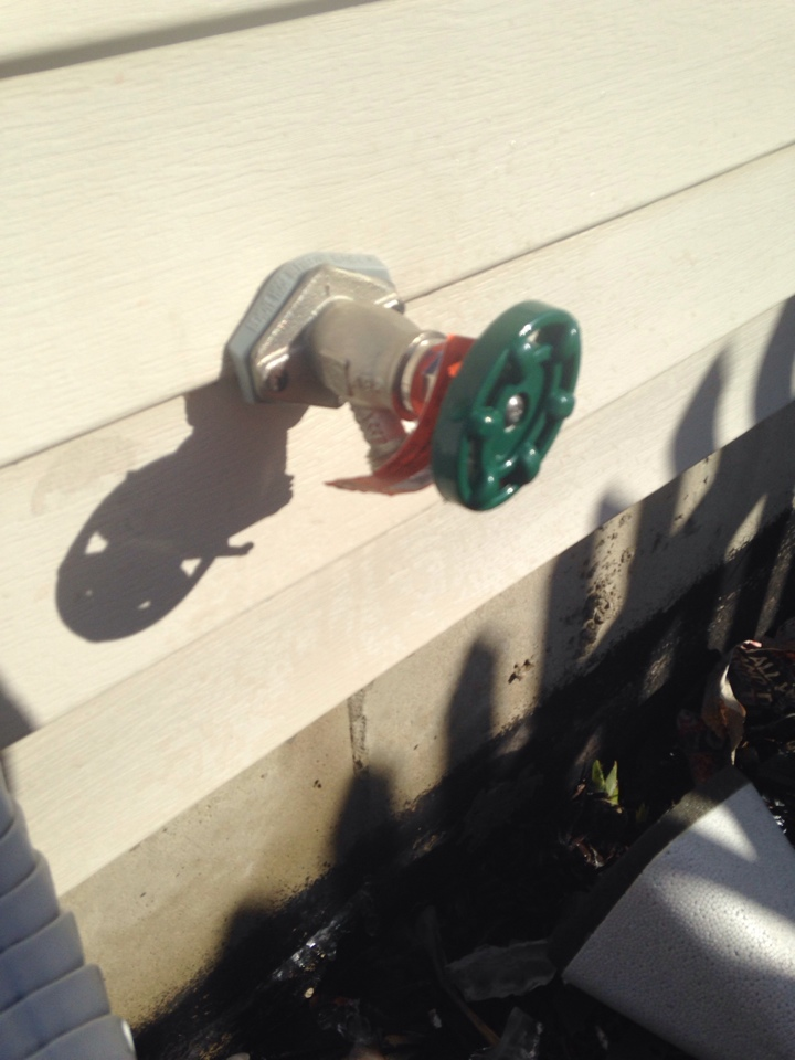 Plainfield, IL - Replaced frost proof spigot one side of house